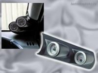 Autostyle držák budíků na přední pravý A sloupek Subaru Impreza -- od roku výroby 2000- -- ( určeno pro 2 měřiče o průměru 52 mm, materiál ABS CARBON )