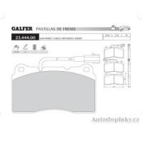 GALFER přední brzdové desky typ FDA 1045 SUBARU IMPREZA (GD-GG) 2.0i 16V Turbo 4wd STI -- rok výroby 01- ( brzdový systém BRE )