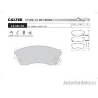 GALFER přední brzdové desky typ FDA 1045 SUBARU JUSTY II (JMA-MS) 1.3i 4wd (up to/fino al telaio 325168) -- rok výroby 95-98 ( brzdový systém AKE )