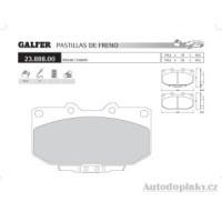 GALFER přední brzdové desky typ FDR 1065 SUBARU IMPREZA (GC-GF) 2.0i 16V Turbo 4wd /Coupe' /Station Wagon -- rok výroby 98-00 ( brzdový systém SUM )