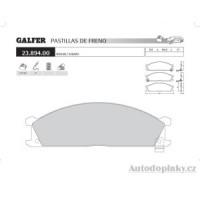 GALFER přední brzdové desky typ FDA 1045 SUBARU SVX 3.3i V6 24V -- rok výroby 92-97 ( brzdový systém SUM )