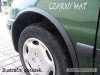 Lemy blatníků černé matné Subaru Justy 5dv. Hatchback -- rok výroby 1996-2002 (4dílná sada)