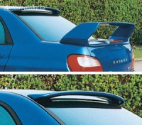 LESTER zadní spoiler kšilt Subaru Impreza WRX od roku výroby 2001-