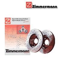 Zimmermann přední sportovní brzdové kotouče -vzduchem chlazené SUBARU IMPREZA Coupe (GFC)  -motor 2.0  4WD -- rok výroby 12.95-12.00
